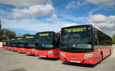 Imagen de autobuses urbanos de Alcalá de Henares