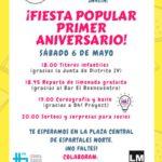 Cartel de la fiesta aniversario de la AVV Espartales Norte