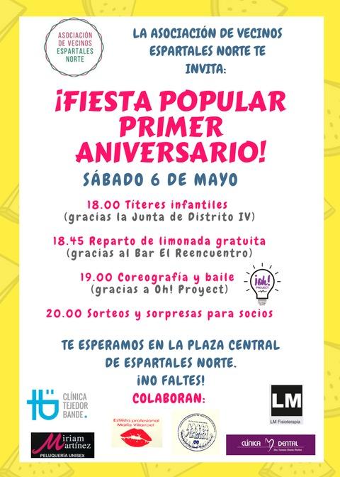 Fiesta por el primer aniversario de la AVV Espartales Norte