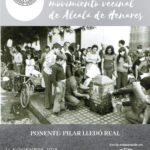 Cartel acto La mujer en el movimiento vecinal - 25 aniversario