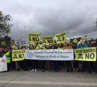 Manifestación por el cierre del vertedero