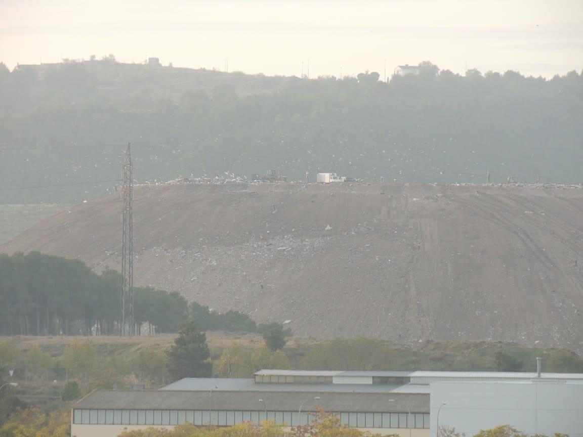 Vista del vertedero el 31 de octubre de 2019